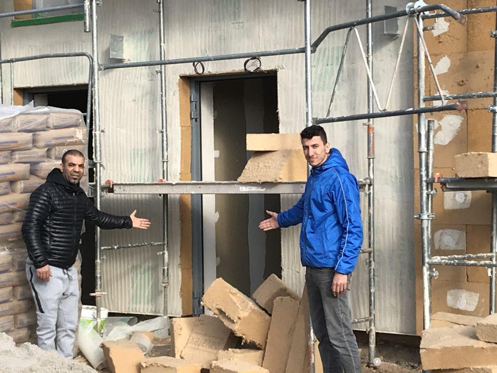 chantier du bâtiment d'habitation des compagnons emmaus