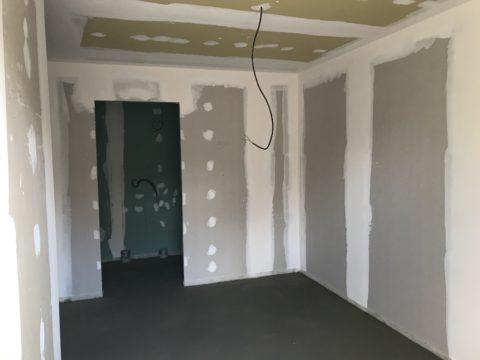 chantier du bâtiment d'habitation des compagnons emmaus shcerwiller